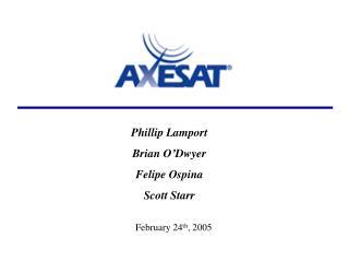 Phillip Lamport  Brian O'Dwyer Felipe Ospina Scott Starr