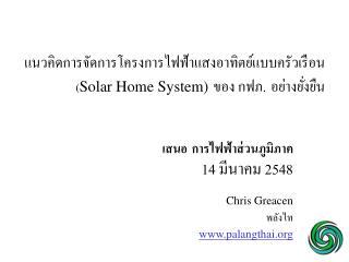 ?????????????????????????????????????????????????  ( Solar Home System) ???  ???. ????????????