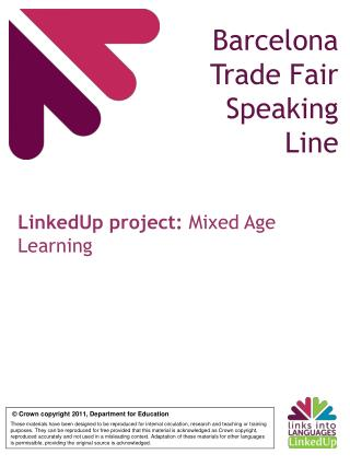 Barcelona Trade Fair Speaking Line