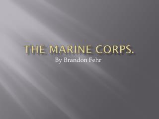 The Marine Corps.
