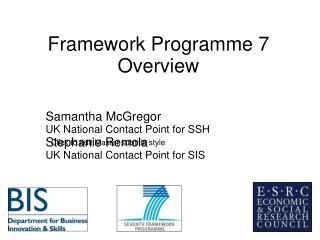 Framework Programme 7 Overview