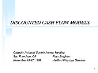 DISCOUNTED CASH FLOW MODELS