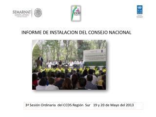 INFORME DE INSTALACION DEL CONSEJO NACIONAL
