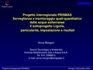 Anna Morgavi Servizi Tecnologici e Ambientali Azienda Mediterranea Gas e Acqua S.p.A.