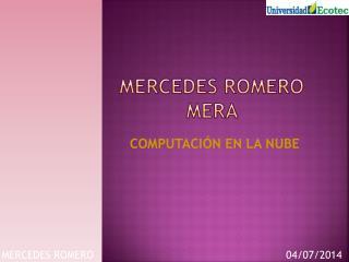 MERCEDES ROMERO MERA