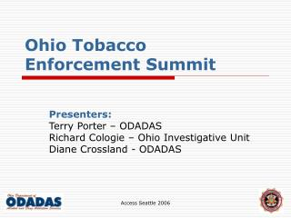 Ohio Tobacco Enforcement Summit