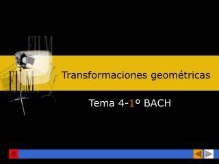 Transformaciones geom�tricas