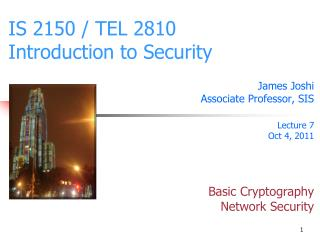 IS 2150 / TEL 2810 Introduction to Security