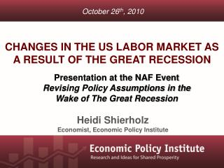 Changes in the US Labor Market as a result of the Great Recession
