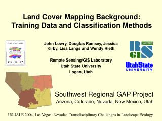 Land Cover Mapping Background:  Training Data and Classification Methods