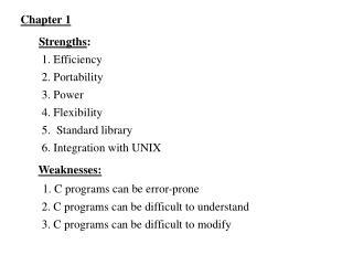 Strengths :