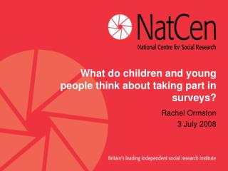 What do children and young people think about taking part in surveys?