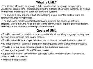 What is UML?