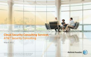 Cloud Security Consulting Services AT&T Security Consulting