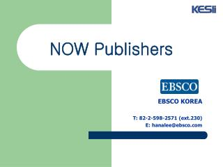 NOW Publishers