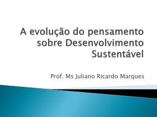 A evolução do pensamento sobre Desenvolvimento    Sustentável