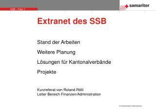 Extranet des SSB
