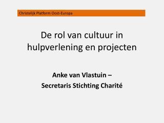 De rol van cultuur in hulpverlening en projecten