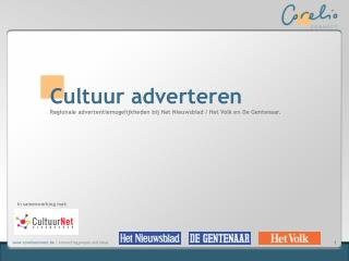 Cultuur adverteren