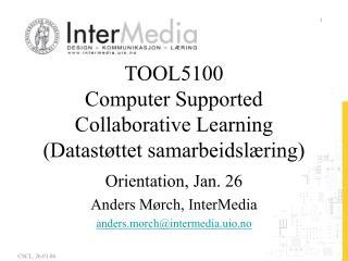 TOOL5100 Computer Supported Collaborative Learning (Datastøttet samarbeidslæring)