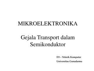 Gejala Transport dalam Semikonduktor