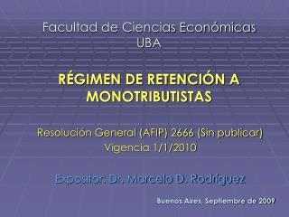 Facultad de Ciencias Económicas UBA