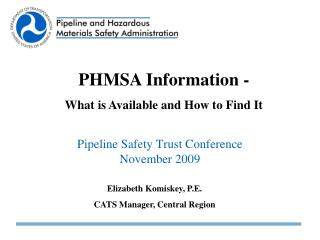 Pipeline Safety Trust Conference November 2009