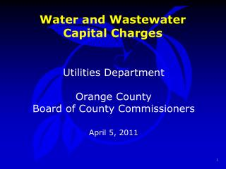 Water and Wastewater Capital Charges