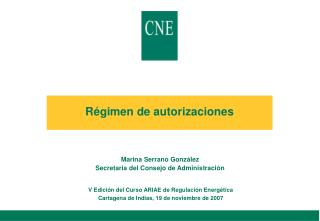 Régimen de autorizaciones
