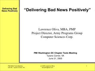"""Delivering Bad News Positively"""