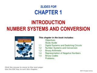 SLIDES FOR CHAPTER 1 INTRODUCTION NUMBER SYSTEMS AND CONVERSION