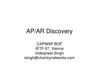 AP/AR Discovery