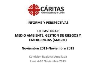 Comisión Regional Ampliada Lima 4-10 Noviembre 2013