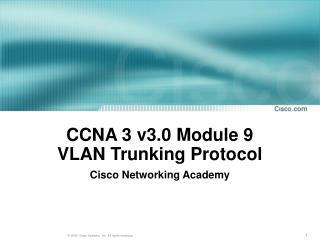 CCNA 3 v3.0 Module 9 VLAN  Trunking Protocol