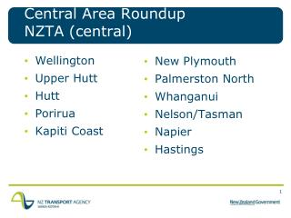 Central Area  Roundup NZTA  (central)