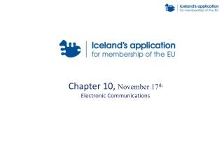Chapter 10,  November 17 th Electronic Communications