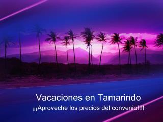 Vacaciones  en Tamarindo