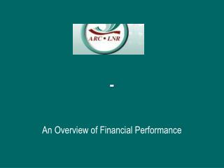 An Overview of Financial Performance