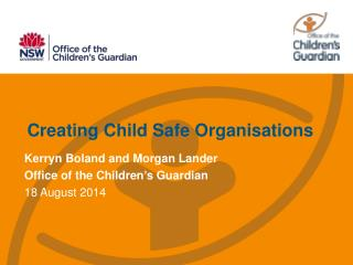 Creating Child Safe Organisations