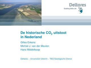 De historische CO 2  uitstoot  in Nederland