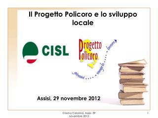 Il Progetto Policoro e lo sviluppo locale