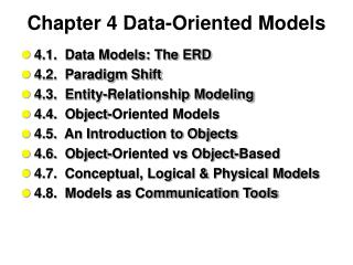 Chapter 4 Data-Oriented Models