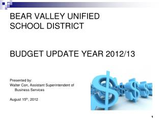 BEAR VALLEY UNIFIED  SCHOOL DISTRICT