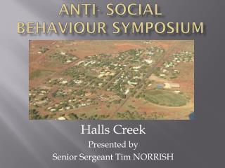Anti- Social Behaviour Symposium