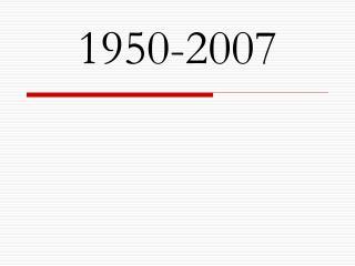 1950-2007