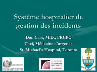 Syst me hospitalier de gestion des incidents
