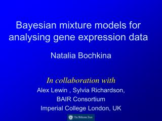 Bayesian mixture models for analysing gene expression data