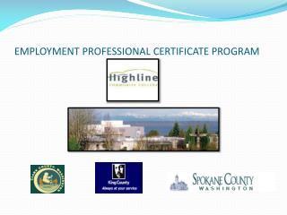 EMPLOYMENT PROFESSIONAL CERTIFICATE PROGRAM