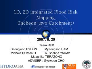 1D, 2D integrated Flood Risk Mapping  (Incheon-gyo Catchment)