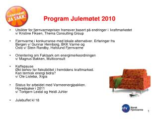 Program Julemøtet 2010